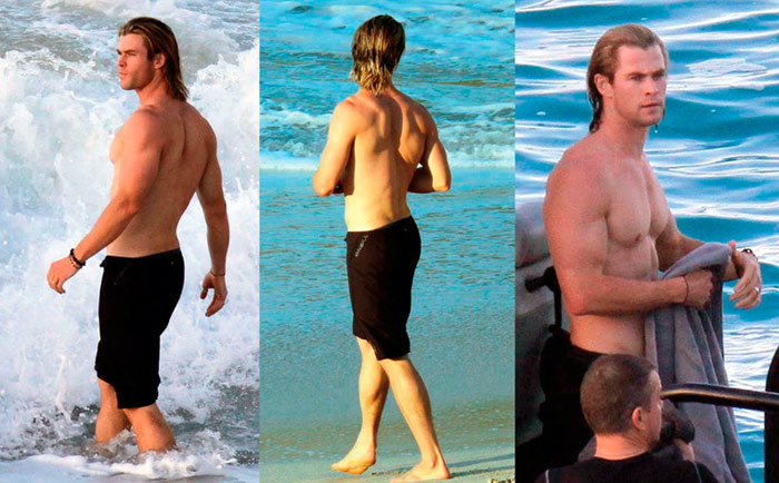 Chris Hemsworth Shirtless